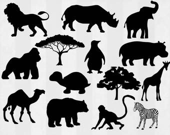 Animals SVG Bundle, Animals clipart, Animals cut files, svg files for silhouette, files for cricut, svg, dxf, eps, cuttable design