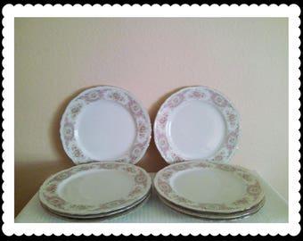 Style House Pompadour Fine China Plates (8)