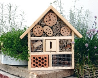 Nature - insect Hotel established in handmade - roof tiles