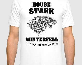 House Stark The North Remembers T-shirt Game of Thrones Men's Women's Tee