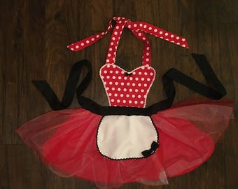Minnie Mouse Princess Dress up Apron Disney Inspired