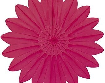 Tissue Paper Decoration Fan 67cm - Fuchsia #7174-015 by Paper Fantasies