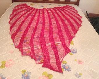 My drop stitch shawl