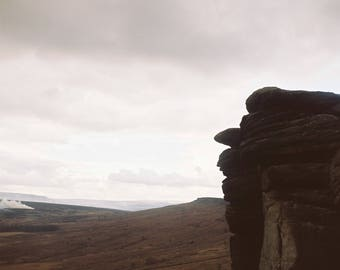 Overcast afternoon at Stanage
