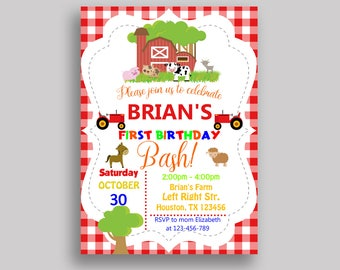 Farm Animals Birthday Invitation Farm Animals Birthday Party Invitation Farm Animals Birthday Party Farm Animals Invitation Boy Girl KHRHJ