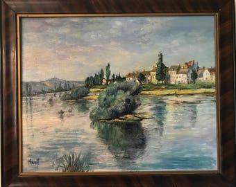 La Seine a Lavacourt, after Monet