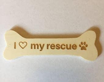 Refrigerator magnet, Magnet, Rescue Dog Magnet