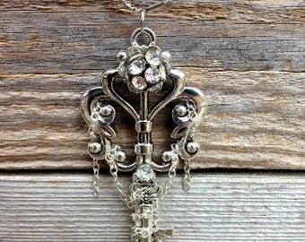 Large Skeleton Key Necklace- Handmade