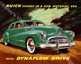 Buick 1948 VINTAGE Advertising ART PRINT