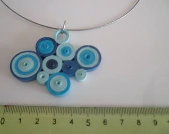 Blue quilling tones necklace