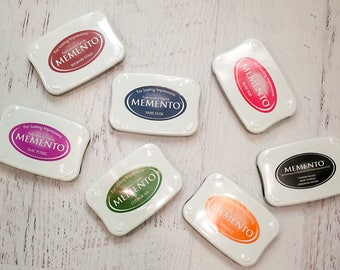 Ink Pad - Stamps - Stamp Pad - Memento Ink Pad - Rubber Stamp Ink Pad - Wooden Stamp Ink Pad - Black - Pink - Green - Orange - Blue - Red