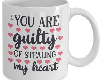 Unique Coffee Mugs, gift for her, gift for men, valentine's day quote, love quotes, valentine's gift ideas, stealing my heart