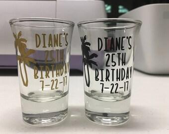 Custom Birthday Shot Glasses