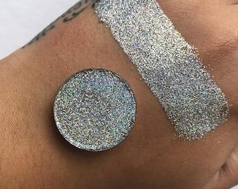how to make pressed glitter eyeshadow