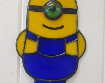 Minion Stained Glass Suncatcher