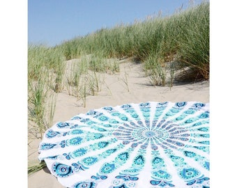 Cotton Mandala Beach Indian Mandala Round Tapestry Hippy Boho Gypsy Tapestry Tablecloth Round Tapestries Beach Towel