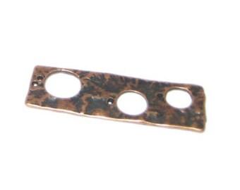 14 x 40mm Copper Metal Pendant / Link - 3 links