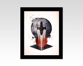 Firefly inspired Serenity abstract print
