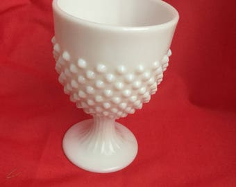 Fenton white hobnail milk glass