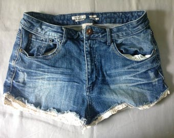 Cotton Blue Jean Shorts