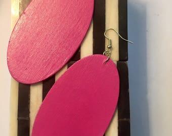 Bold Hot Pink Earrings