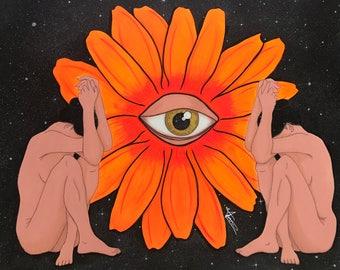 Eye of God- Original Art piece/ Mixed-Media Painting