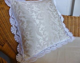 Damask decorative pillow