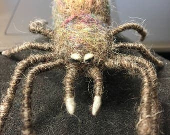 Needle Felted Wool Spider