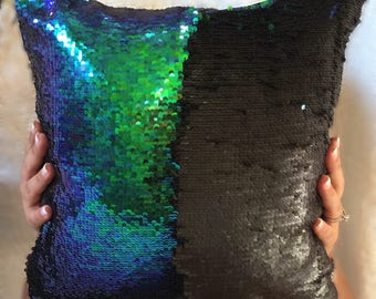 Sequin Mermaid Pillow Cover 16X16