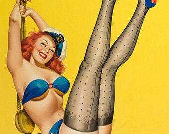 1953 Vintage Pin Up Girl Digital Download