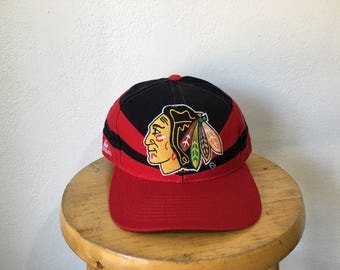 Vintage Chicago Blackhawks snapback hat Apex One