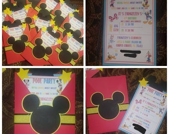 Mickey Mouse Clubhouse birthday invitations.. Mickey Mouse invites..Disney invitations..birthday invites..Minnie mouse invites