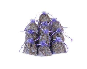 Bridal Shower Favor Lavender Sachet Bags, Wedding Favor 3X4 Organza Bag Fragrant Handmade Sachet Bags for Aromatherapy, Potpourri - LS001-4
