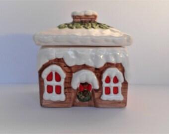 Earthenware Snow House Cookie Jar-House of Lloyd