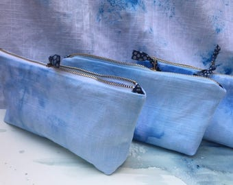HandDyed Zipped Pouch