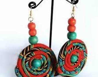 African Cloth Earrings
