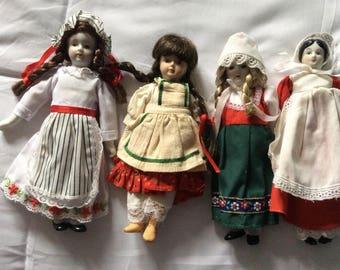 Vintage Glass and Porcelain Dolls