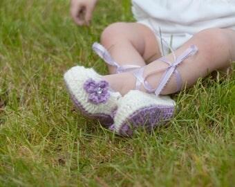 Crochet Baby Ballet Flats