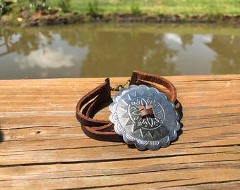 Big concho bracelet