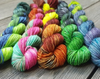 Ghoulish Goulash-hand dyed mini skeins