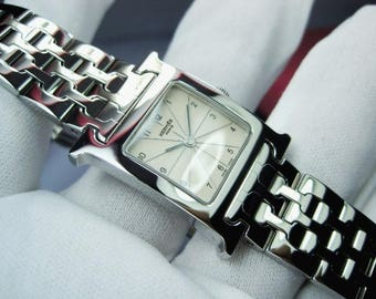 Hermes h-hour  in Stainless  lady white