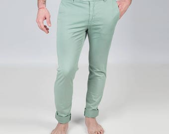 Lime green chinos
