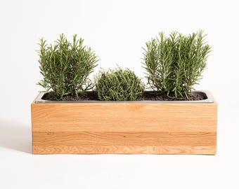 Herb box oak solid wood herb box herb garden herb box