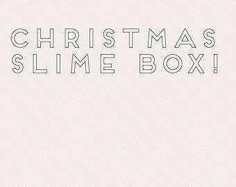 Christmas slime box
