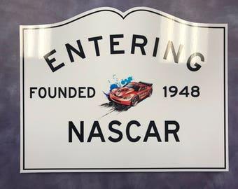 Customizable Nascar Sign