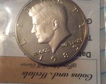 1985-S Kennedy Half Dollar- Deep Cameo Proof/ Uncirculated