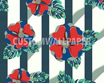 My Tropical Paradise Patterned Wallpaper By Customwallpaper.com