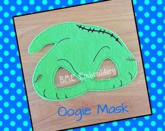 Oogie Inspired Felt Mask- Child's Dress Up and Imaginary Play- Birthday Party Favor-Photo Shoot-Theme Party-Nightmare Before Christmas