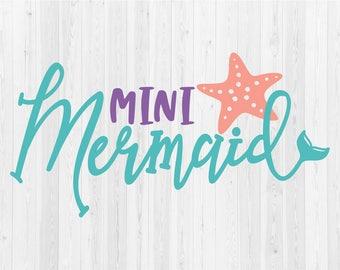 Mini Mermaid - SVG Cut File