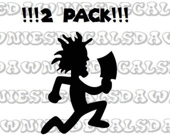 2 Pack Hatchetman Hatchet Man Vinyl Sticker Decal Juggalo ICP